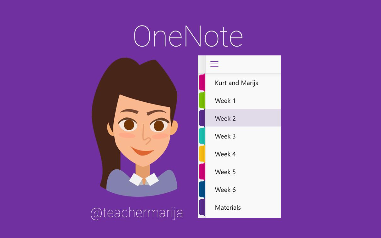 OneNote wit teachermarija