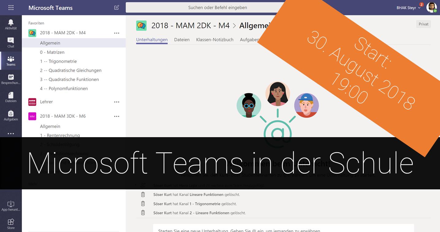Microsoft Teams in der Schule
