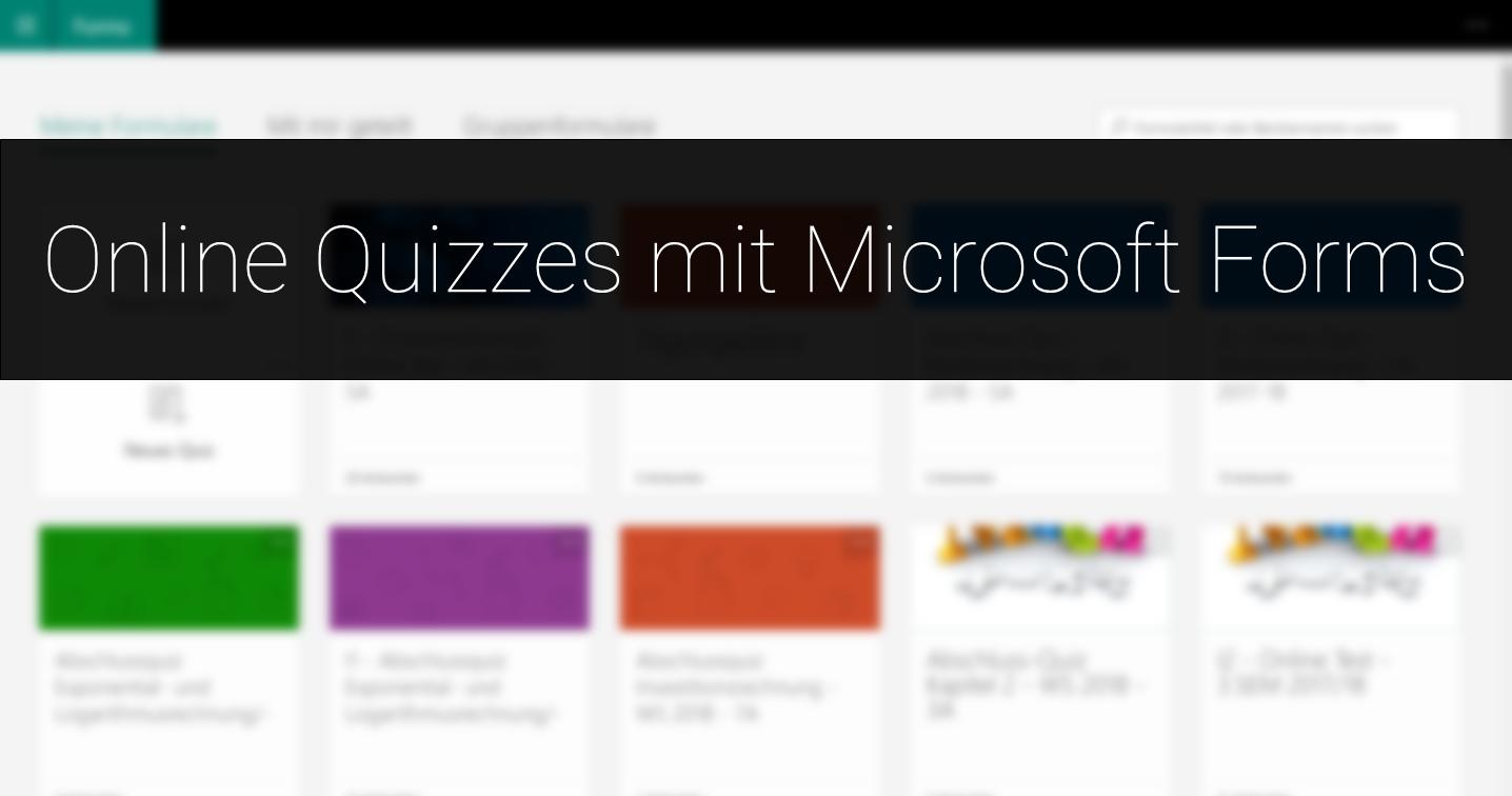 Online Quizzes mit MS Forms