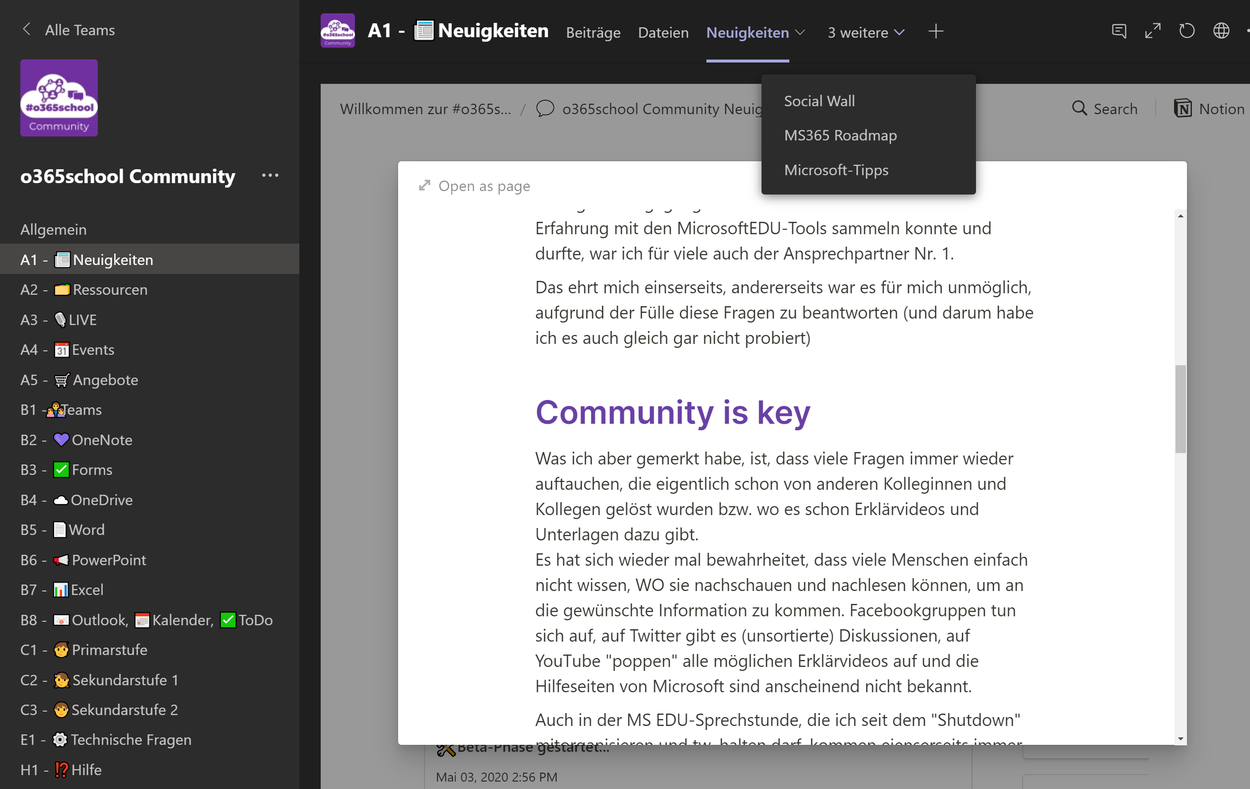 o365school Community - Screenshot2
